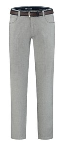 Com4 Swing Front Wool Look Pants Light Grey