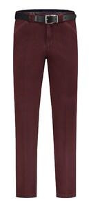 Com4 Wing-Front Winter Cotton Pants Bordeaux Melange