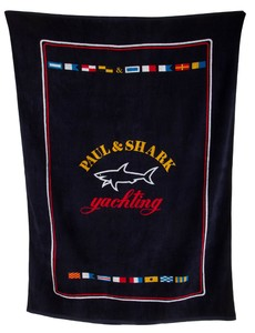 Paul & Shark Shark Yachting Bath Towel Navy