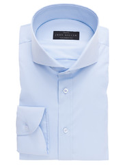 John Miller Tailored Fit Stretch Licht Blauw