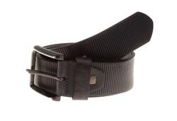 Lindenmann Ribbed Leather Belt Navy