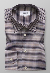 Eton Fine Twill Check Off White - Bruin
