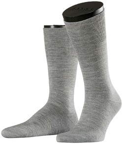 Falke No. 6 Socks Finest Merino and Silk Extra Light Grey Melange