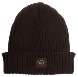 Paul & Shark Bretagne Plain Knitted Cap Zwart