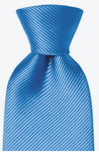 Hemley Uni Zijden Stropdas Midden Blauw