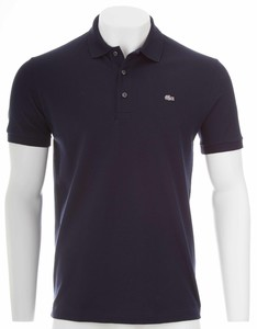 Lacoste Stretch Slim-Fit Mini Piqué Navy Blue