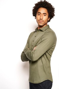 Desoto Casual Long Sleeve Polo Forrest Green