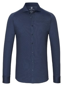 Desoto Cotele New Shark Fine Line Cotton Overhemd Blauw