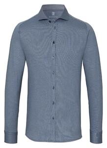 Desoto Cotele New Shark Fine Line Cotton Overhemd Indigo