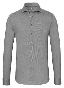 Desoto Cotele New Shark Fine Line Cotton Shirt Grey