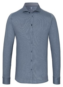 Desoto Cotele New Shark Fine Line Cotton Shirt Indigo
