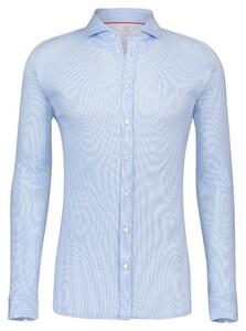 Desoto Dobby Faux Uni Overhemd Licht Blauw