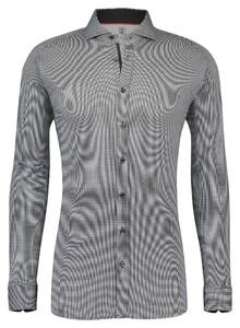 Desoto Dobby Faux Uni Overhemd Zwart
