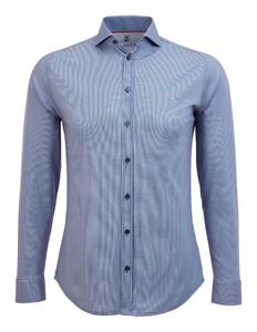 Desoto Dobby Shark Collar Overhemd Indigo