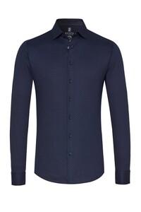 Desoto Dotted Pattern Overhemd Donker Blauw