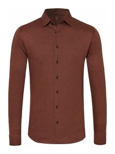 Desoto Kent Piqué Overhemd Bruin