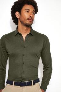 Desoto Kent Piqué Overhemd Forrest Green
