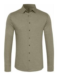 Desoto Kent Piqué Shirt Beige Grey