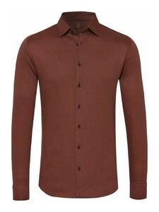 Desoto Kent Piqué Shirt Brown
