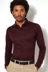 Desoto Kent Piqué Shirt Dark Purple