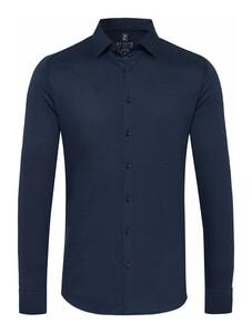 Desoto Kent Piqué Shirt Navy