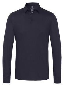 Desoto Long Sleeve Piqué Uni Polo Navy