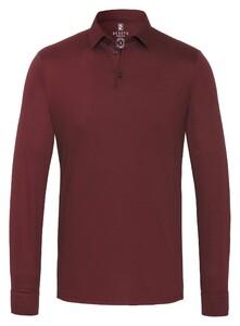 Desoto Long Sleeve Piqué Uni Polo Oxblood
