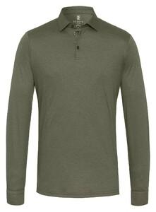Desoto Long Sleeve Piqué Uni Poloshirt Olive