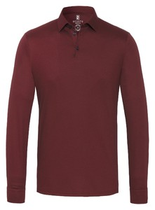 Desoto Long Sleeve Piqué Uni Poloshirt Oxblood