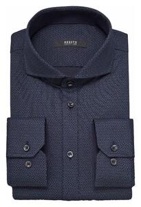 Desoto Luxury Abstract Pattern Overhemd Navy