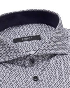 Desoto Luxury Abstract Pattern Shirt Grey-Blue