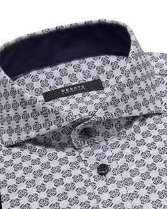 Desoto Luxury Fantasy Fine Ornament Pattern Shirt Grey-Blue