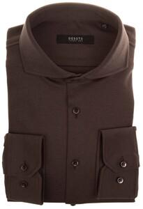 Desoto Luxury Fine Luxury Jersey Overhemd Bruin