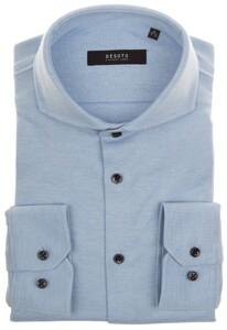 Desoto Luxury Fine Luxury Jersey Overhemd Licht Blauw