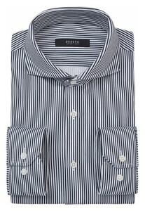 Desoto Luxury Fine Stripe Overhemd Donker Blauw