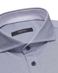 Desoto Luxury Fine Stripe Shirt White-Blue