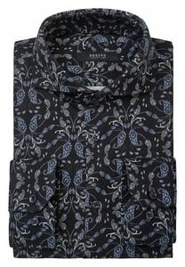 Desoto Luxury Luxury Blossom Pattern Shirt Navy