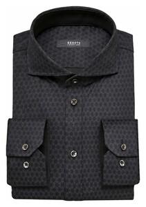 Desoto Luxury Luxury Dotted Circle Shirt Grey-Black