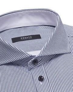 Desoto Luxury Luxury Fine Pattern Shirt White-Blue