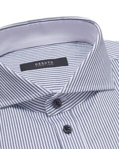 Desoto Luxury Luxury Stripe Overhemd Wit-Blauw