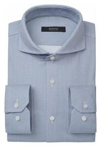 Desoto Luxury Minimal Pattern Overhemd Wit-Lichtblauw