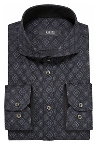 Desoto Luxury Multi Abstract Tiles Overhemd Grey-Black