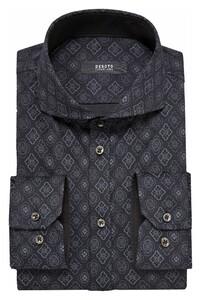 Desoto Luxury Multi Abstract Tiles Shirt Grey-Black