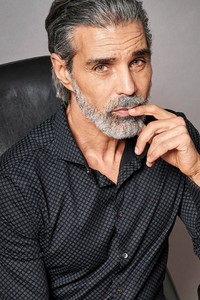 Desoto Luxury Multi Circles Fine Pattern Shirt Black-Grey