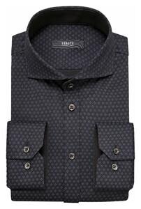 Desoto Luxury Multi Mini Dot Diamond Overhemd Grey-Black