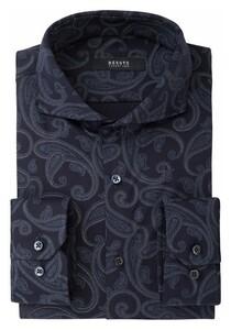 Desoto Luxury Rich Paisley Pattern Overhemd Navy