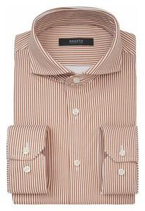 Desoto Luxury Stripe Contrast Pattern Overhemd Roest