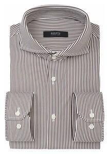 Desoto Luxury Stripe Pattern Shirt Brown