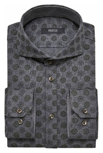 Desoto Luxury Subtle Fantasy Pattern Overhemd Grey-Olive