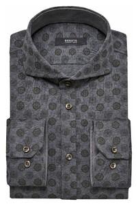 Desoto Luxury Subtle Fantasy Pattern Shirt Grey-Olive